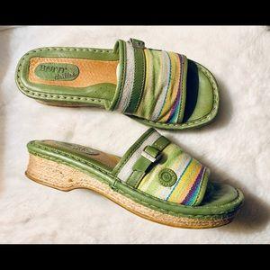 Born slip on wedge sandal